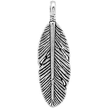 100Pcs Tibetan Silver Tone 3D Feather Charms Pendants Beads DIY 29 x 5 x 2mm