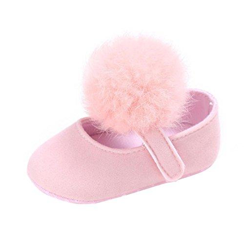 Saingace Krabbelschuhe,Kleinkind Baby Krippe Schuhe Neugeborene Soft Sohle Anti-Rutsch-Turnschuhe Rosa