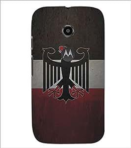 Printdhaba Eagle Pattern D-5325 Back Case Cover For Motorola Moto E2