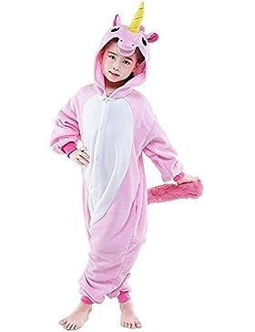 CuteOn Unisexo Para niños Unicornio Pijama Animal Onesie Traje de dormir Cosplay Disfraz