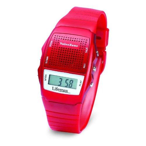 Lifemax Sprechende Memo-Uhr, Rot 428RED