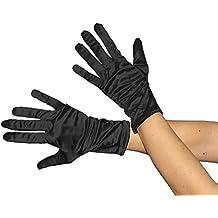 Elegante Handschuhe schwarz gerafft lang Handschuh schwarze Fingerhandschuhe