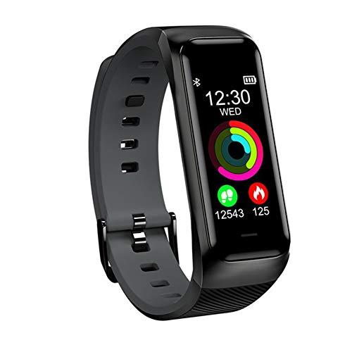 UMGZY Fitness Tracker Bluetooth Sport Pulsera Inteligente Reloj Monitor de Ritmo cardíaco Presión Arterial IP68 Resistente al Agua para Android iOS,Black