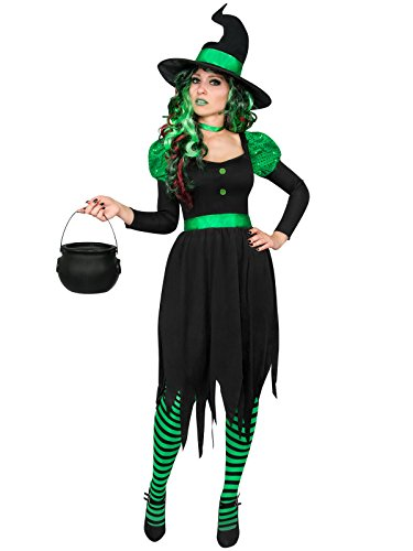 Grüne Hexe Damenkostüm Märchen schwarz grün XL