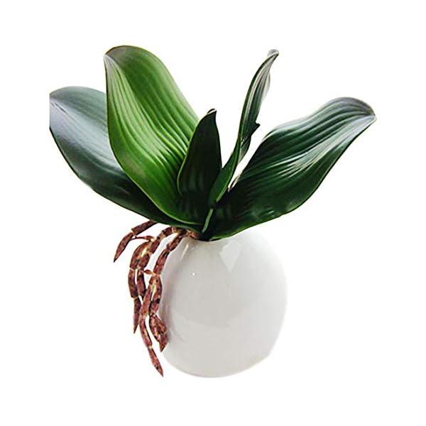 uu19ee Verde Artificial Phalaenopsis Orquídeas Hojas Arreglo De Plantas para Flores Jardín Bonsai Decoración