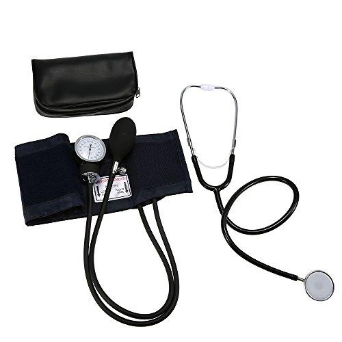 Zroven Aneroide Manguito Kit superior del brazo del estetoscopio de la presión arterial con la cremallera...