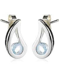 Elements Sterling Silver Women's Stud Earrings 925 Sterling Silver Blue Topaz E3057T Blue