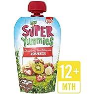 Yummies Súper Fresa, Kiwi Y Plátano 100 G Bolsa De Aterrizaje - Paquete de 6