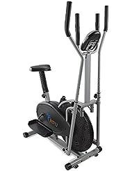 Fitfiu ORB2600S Bicicleta Elíptica Multifunción con Pantalla LCD y Pulsómetro, Unisex Adulto, Plata, Talla Única