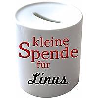Preisvergleich für Spardose Porzellan, bedruckt mit Linus
