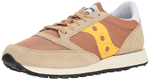 Saucony Herren Jazz Original Vintage Cross-Trainer, Beige (Tan/Yellow 35), 44 EU
