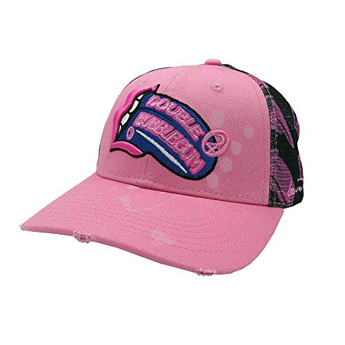 Lauren Rose Double Bubblegum 420 Trucker Baseball Cap Snapback - Pink