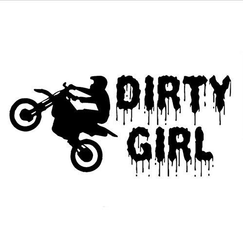 Cm Dirty Girl Dirt Bike Aufkleber Reiter Auto Aufkleber Und Abziehbilder Motorrad Auto Styling Zubehör Schwarz Weiß-3Stk ()