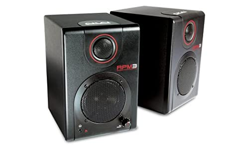 AKAI Professional RPM3 Portable Professional Production Monitor Speakers with On-Board 2 x 2 USB Audio Interface