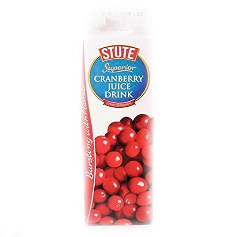 Stute | Superior Cranberry Juice Drink | 8 x 1L