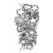 [étoiles & chaîne] faux tatouages Tatouages temporaires imperméable,8.6*4.1''