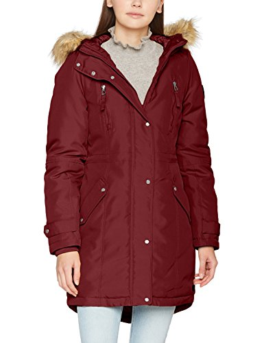 Expedition Parka (VERO MODA Damen Vmtrack Expedition 3/4 Parka Rot (Zinfandel), 36 (Herstellergröße: S))