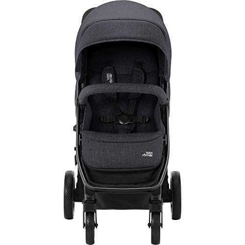 Britax Römer B-Agile M Stroller Pushchair, Birth to 4 Years (22kg), Black Shadow