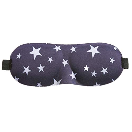ZOUCY 3D Contoured Schlafmaske Star Floral Eyeshade Cover Tragbar Einstellbar BlindfoldStar -