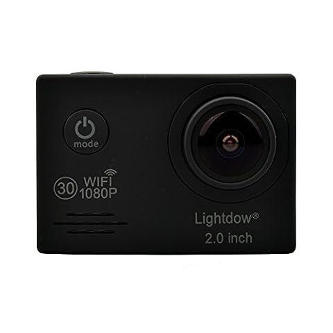 Lightdow LD6000 Sport-Kamera, 1080P / Wi-Fi, mit zusätzlichem Akku, Novatek NT96655, LCD-Bildschirm 5,1cm (2Zoll), 170-Grad-Weitwinkelobjektiv
