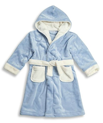 BABYTOWN Childrens Kids Infant Boys Fleece Dressing Gown Robes Super Soft Cosy (3-4 Yrs (Height: 98cm-104cm)) (Boys - Blue)