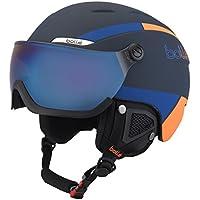 Bollé 31488 Cascos de Esquí, Unisex Adulto, Azul Marino/Naranja, ...