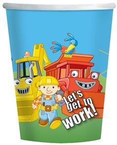 bob-the-builder-children-s-partyware-cups-one-confezione-da-8-tazze-usa-e-getta