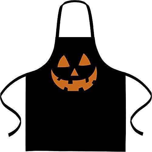 ntern Kürbis Gesicht Halloween Kochschürze, Grillschürze, Latzschürze One Size Schwarz ()