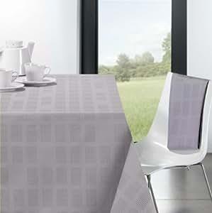 OLD Nappe rectangulaire coton enduit gris Perfo 250 x 150