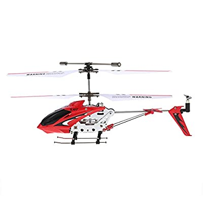 Syma Mini 3 Channel Infrared RC Helicopter with Gyroscope Dual Protection Red from Syma