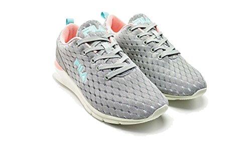 FILA Damen Fury Run 3 Low Textil Sneaker Gray/Violet Größe 40 -