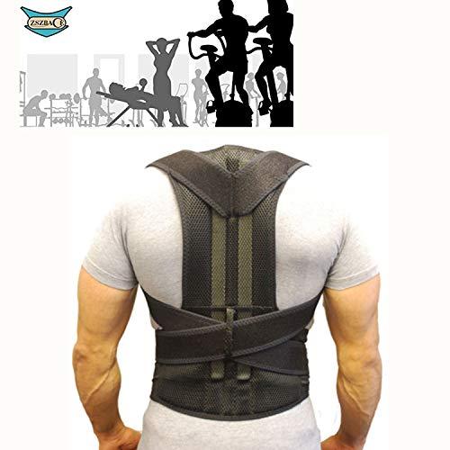 Masajeador de espalda, cinturón de apoyo para la espalda unisex para el dolor de hombros(S-XXL)negro (XL)