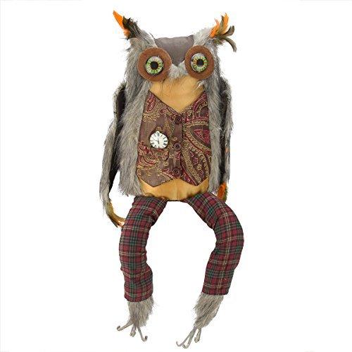 ein Eule Deko für Halloween oder Thanksgiving Figur Vogel ()