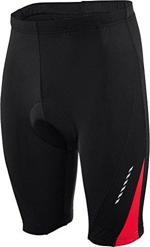 CRIVIT® Herren Fahrradhose, kurz (Gr. M 48/50, schwarz/rote Spitze) (Hosen Lycra Herren)