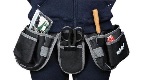 Gürteltasche für Werkzeug Garten Haushalt Stall Pferde Tiere Putzgürtel schwarz