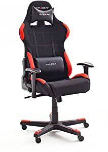 DX Racer1 Gamingstuhl Schreibtischstuhl Bürostuhl Gaming chair schwarz / rot 78 x 124-134 x 52 cm