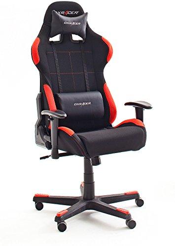 Robas Lund, DX Racer 1, Gamingstuhl, Schreibtischstuhl, Bürostuhl, schwarz/rot, 78 x 124-134 x 52 cm, 62501SR4