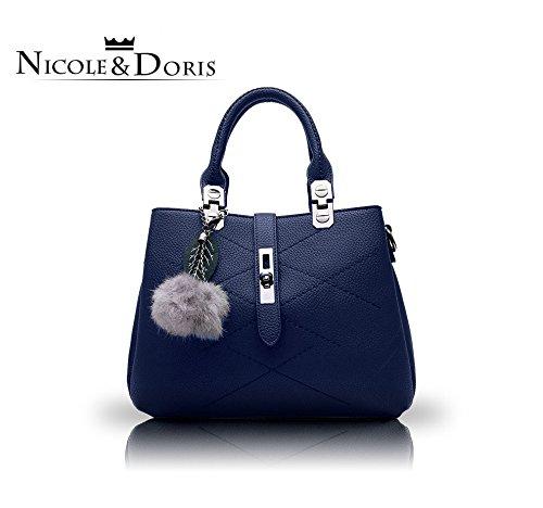 NICOLE&DORIS 2017 nouvelle vague paquet sac messenger sac à main femme sac à main sacs à main femme bleu