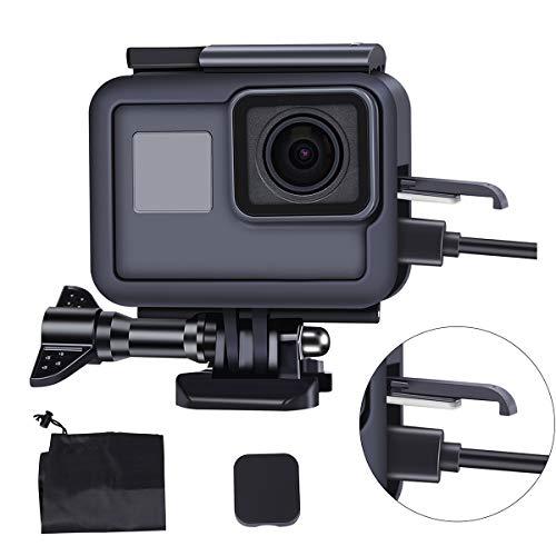 LARRITS Kit de accesorios para GoPro Hero 7 Black/ Hero 7 Silver/ Hero 7 White/ Hero 6 Black/ Hero 5 Black/ Hero 2018 El paquete incluye: Funda protectora X 1, Adaptador de montaje X 1, Tornillo largo X 1, Tapa de lente de silicona X 1, Llave pequeña...
