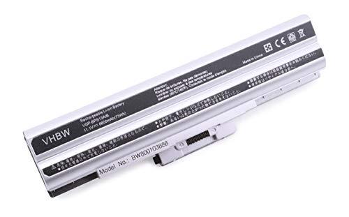 vhbw Batterie LI-ION 6600mAh 11.1V, argenté, pour SONY VAIO VGN-NS92JS, VGN-NS92XS, VGN-NW21EF, VGN-NW21JF etc. remplace VGP-BPL21, VGP-BPS21 etc.