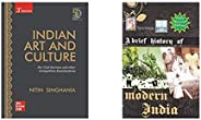 Indian Art and Culture+A Brief History of Modern India (2020-2021 Edition) by Spectrum Books (Set of 2 Books)(