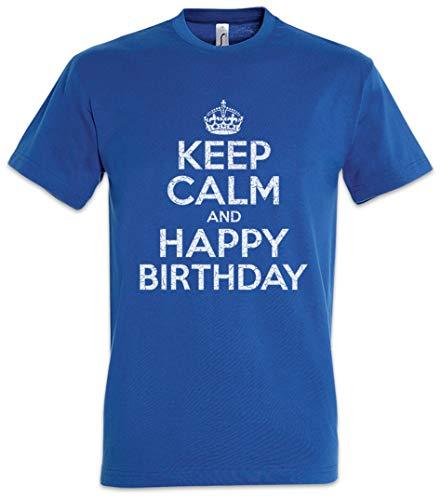 Urban Backwoods Keep Calm And Happy Birthday T Shirt Tamanos S 5XL