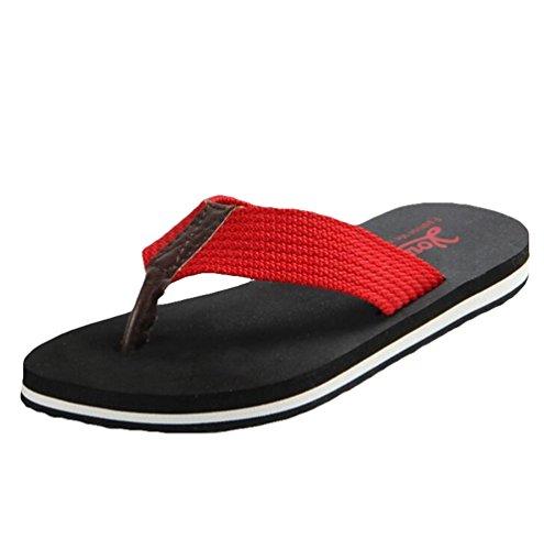 Yiiquan Femmes Eté Tongs Bohème Clip Toe Sandales Plage Flip Flop Noir