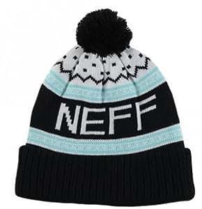 Neff Men's Flake Beanie - Black/Teal, One Size