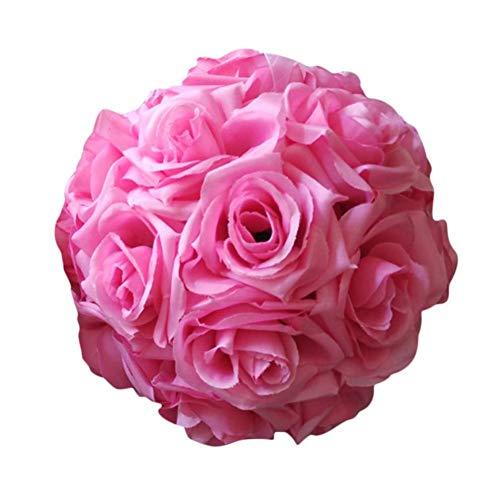 Wateralone Blumen Ball künstlicher Rosen-Ball Bunte künstliche Seidenrose-Blumen-küssender Ball, Topiary-hängende Blumen-Kugel, für Hochzeit, Partei, Hauptdekoration, Geburtstag