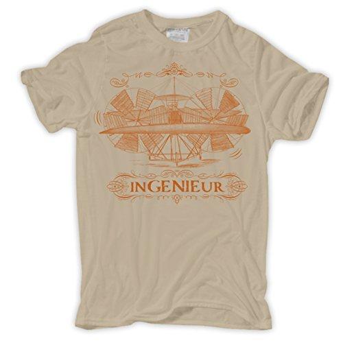 Männer und Herren T-Shirt Ingenieur Sand