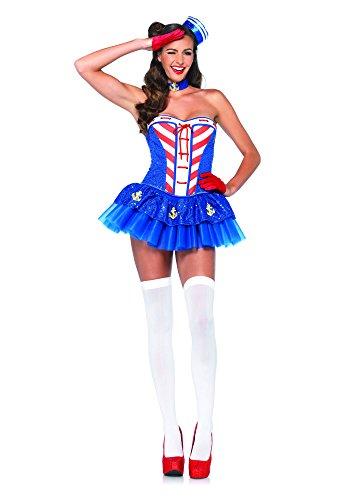 Leg Avenue 85191 - Steuerboard Süße Kostüm Set, 4-teilig, Größe L, - Leg Avenue Seemann Kostüm