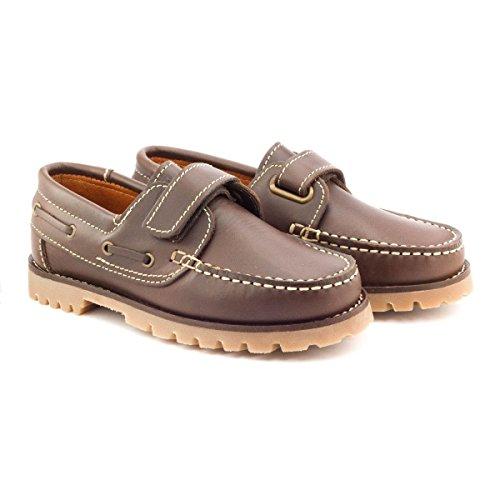 Boni Marc - Chaussures Garçon cuir scratch Marron