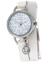 Ted Lapidus - A0612RAIF - Montre Femme - Quartz Analogique - Cadran Blanc - Bracelet Cuir Blanc