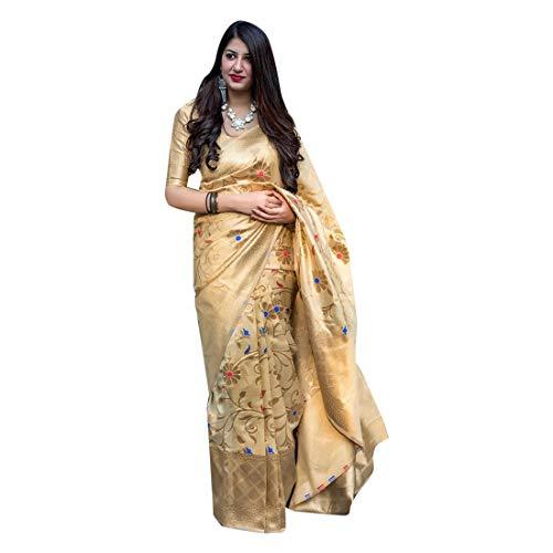 Designer Ethnic Zari Arbeit Banarasi Saree Pallu Bluse Hochzeit Saree Party Sari indische Braut Frauen 7392
